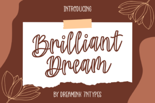 Print on Demand: Brilliant Dream Script & Handwritten Font By Dreamink (7ntypes)