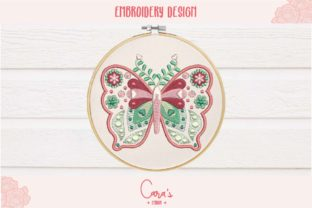 Butterfly Applique Bugs & Insects Embroidery Design By carasembor