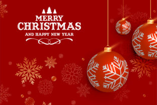 Print on Demand: Christmas Blub Design Graphic Backgrounds By Best_Design