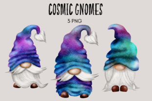 Print on Demand: Cosmic Gnomes Clipart Graphic Illustrations By Celebrately Graphics