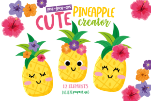 Print on Demand: Cute Pineapple Creator Graphic Illustrations By DigitalPapers