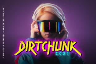 Print on Demand: Dirtchunk Display Font By Prioritype