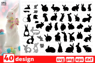 Easter Bunny SVG Bundle Graphic Print Templates By SvgOcean