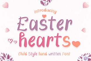 Print on Demand: Easter Hearts Display Font By numnim