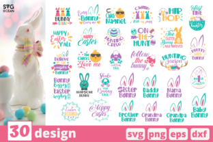 Easter SVG Bundle Graphic Print Templates By SvgOcean