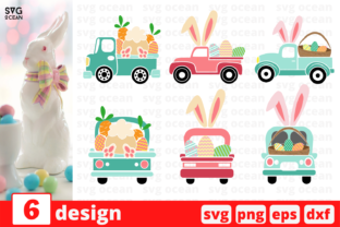 Easter Truck SVG Bundle Graphic Print Templates By SvgOcean