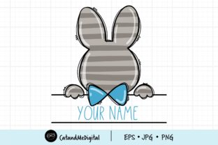 Easter Bunny Boy Clipart Graphic Illustrations By CatAndMe