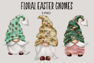Print on Demand: Floral Easter Gnomes Graphic Illustrations By Celebrately Graphics