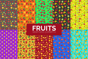 Fruits Seamless Patterns Graphic Patterns By 3Y_Design