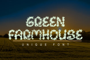 Print on Demand: Green Farmhouse Decorative Font By Ansart