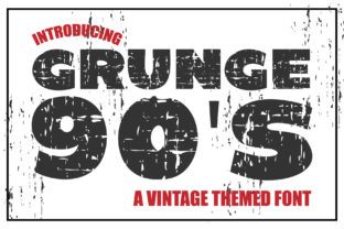 Print on Demand: Grunge 90'S Display Font By KtwoP