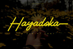 Print on Demand: Hayadoka Script & Handwritten Font By jadatype