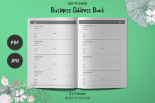 Print on Demand: KDP Business Contacts Address Book Graphic KDP Interiors By The Low Content Bookshelf
