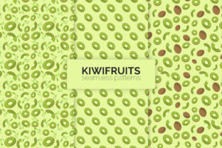 Kiwifruits Seamless Patterns Graphic Patterns By 3Y_Design