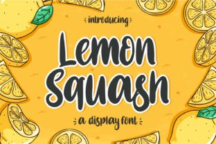 Print on Demand: Lemon Squash Display Font By zainstudio