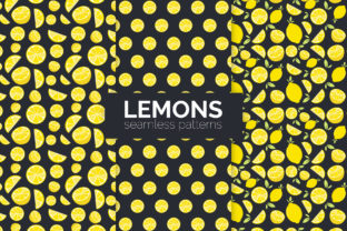 Lemons Seamless Patterns Graphic Patterns By 3Y_Design