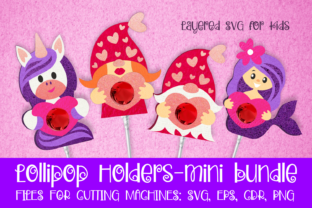 Print on Demand: Lollipop Holders Mini Bundle SVG Graphic 3D SVG By Olga Belova