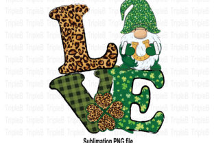 Print on Demand: Love Gnome St Patricks Day Sublimation 1 Graphic Illustrations By TripleBcraft