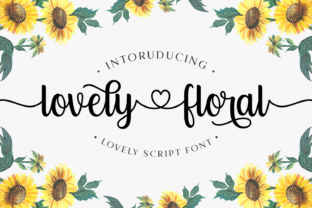 Print on Demand: Lovely Floral Script & Handwritten Font By Keithzo (7NTypes)