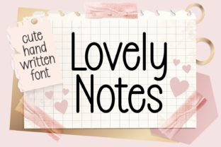 Print on Demand: Lovely Notes Display Fuente Por Keithzo (7NTypes)