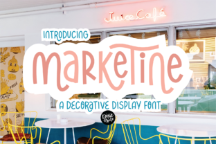 Print on Demand: Marketine Display Font By dixietypeco