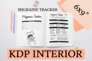 Print on Demand: Migraine Tracker | KDP Interior Graphic KDP Interiors By KDP Mastermind