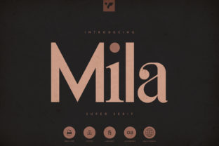 Print on Demand: Mila Serif Font By vladfedotovv