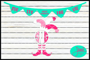 Monogram Valentine's Day Jester Graphic Crafts By jamidesignco