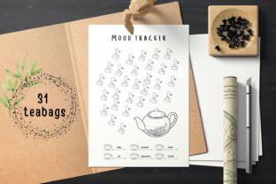 Monthly Mood Tracker Planner Printables Graphic Print Templates By Aneta Design