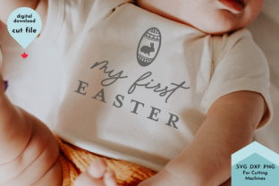 Print on Demand: My First Easter SVG for Baby Shirt, Egg Graphic Crafts By Lettershapes