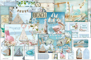 Print on Demand: Nautical Journal Kit with Free Ephemera Graphic Crafts By The Paper Princess