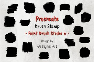 Print on Demand: Procreate Brush Stamp | Paint Brush Graphic Brushes By 18 Curo caT