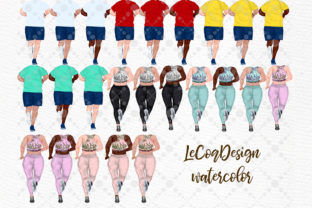 Print on Demand: Runners Clipart Plus Size People Graphic Illustrations By LeCoqDesign 2