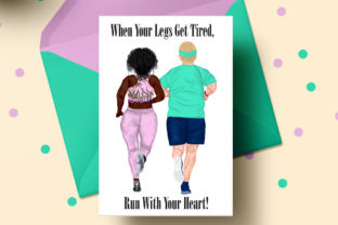 Print on Demand: Runners Clipart Plus Size People Graphic Illustrations By LeCoqDesign 4