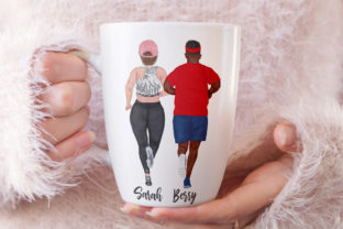 Print on Demand: Runners Clipart Plus Size People Graphic Illustrations By LeCoqDesign 5