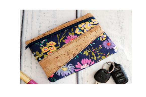 Sassy Stripe Zipper Bag in the Hoop Embroidery