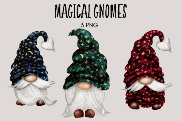 Print on Demand: Star Gnomes Graphic Illustrations By Celebrately Graphics