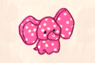 Stuffed Baby Elephant Applique Baby Animals Embroidery Design By DesignedByGeeks