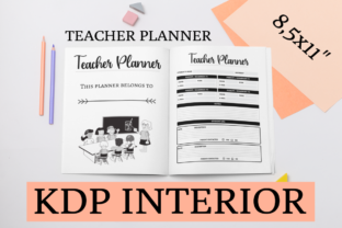 Print on Demand: Teacher Planner | KDP Interior Graphic KDP Interiors By KDP Mastermind