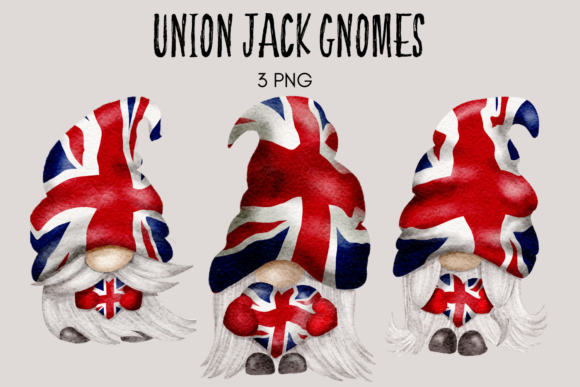 Print on Demand: Union Jack Gnomes Graphic Illustrations By Celebrately Graphics