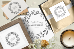 Print on Demand: Whimsical Flower Frames Graphic Illustrations By Wallifyer