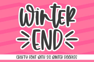 Print on Demand: Winter End Script & Handwritten Font By Abodaniel