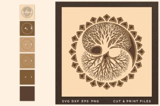 Yin Yang Svg, Tree of Life Svg, 3D Graphic 3D SVG By 2dooart