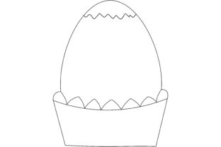 Happy Easter Egg Line Art-02 Graphic Illustrations By immut07