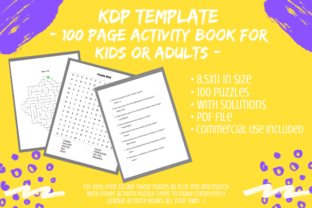 Print on Demand: 100 Page Activity Book Interior for KDP Graphic KDP Interiors By Tomboy Designs
