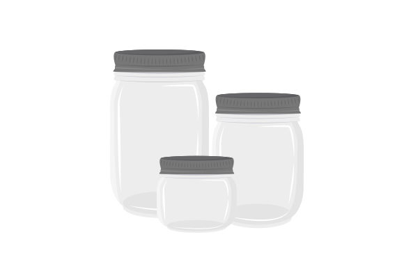 Collection of Mason Jars Cut File