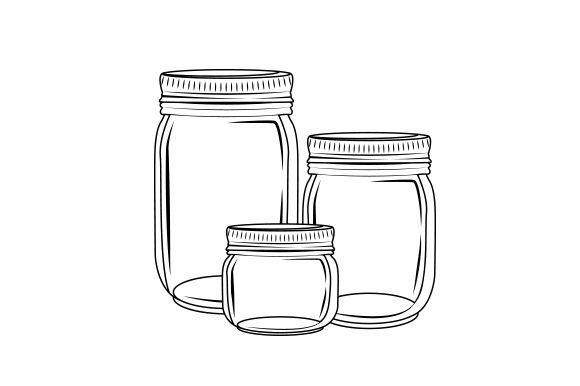 Collection of Mason Jars Cut File Download