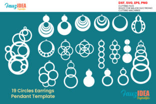 Print on Demand: 19 Circles Earrings Template Graphic Crafts By FauzIDEAStudio