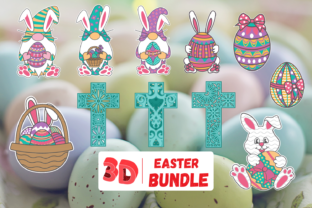 3D Easter SVG Bundle Graphic 3D SVG By SvgOcean