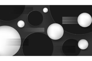 3d Ball Background with Circles and Line Graphic Backgrounds By Artnoy